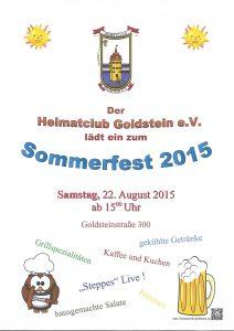 HCG Sommerfest 2015 Plakat
