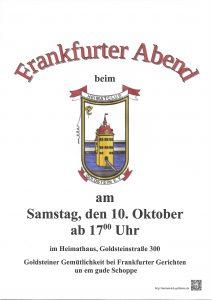 Frankfurter Abend 2015 Plakat