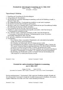 HCG JHV Protokoll Vorstand 2015