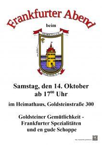 Plakat Frankfurter Abend
