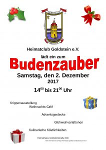 Plakat Budenzauber 2017