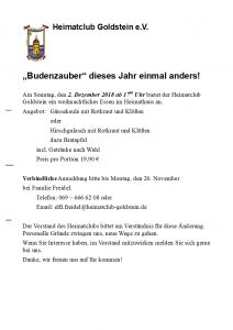 Budenzauber Brief